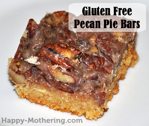 Homemade gluten free pecan pie bar on a plate