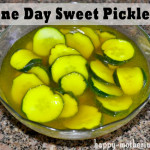 One Day Sweet Pickles