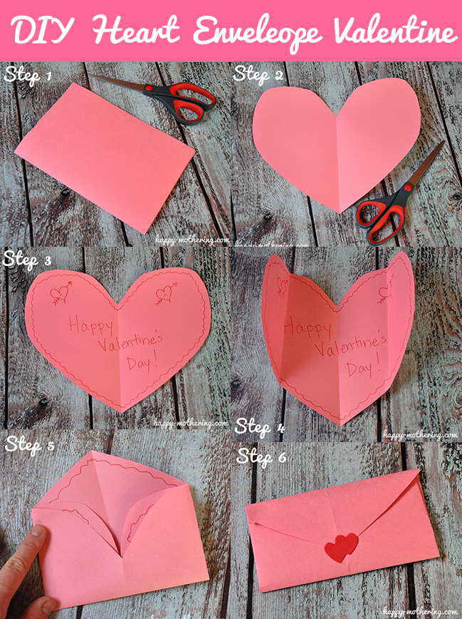 Diy Heart Envelope Valentine Craft Happy Mothering