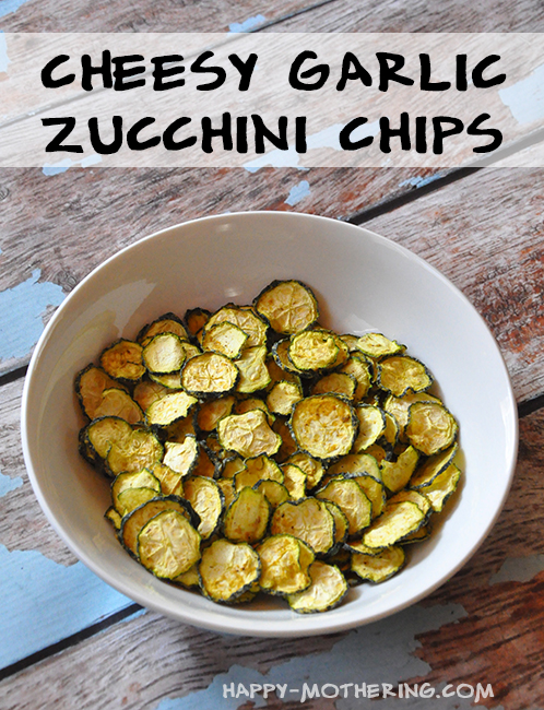 Are you looking for a new veggie chip, other than kale chips? These cheesy garlic zucchini chips never last long when I make them. Healthy, yummy and easy!
