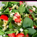 Close up of Strawberry Spinach Salad