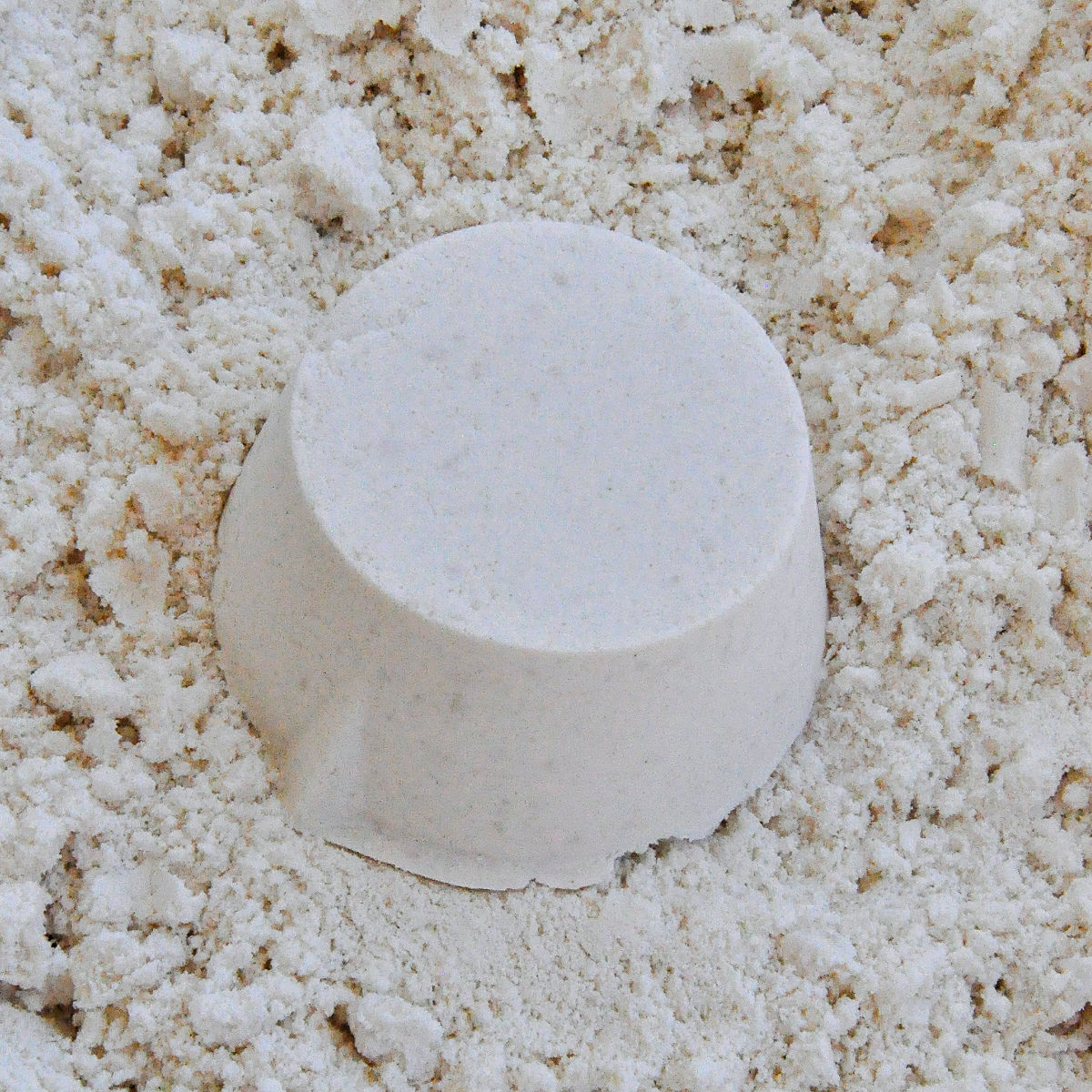 Close up of homemade moon sand