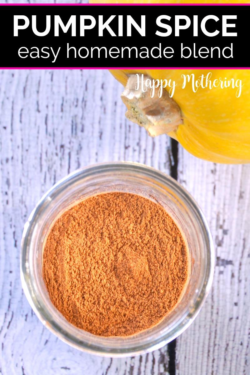 Pumpkin spice mix in a small mason jar