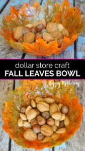 Two fall leaves bowls with whole nuts