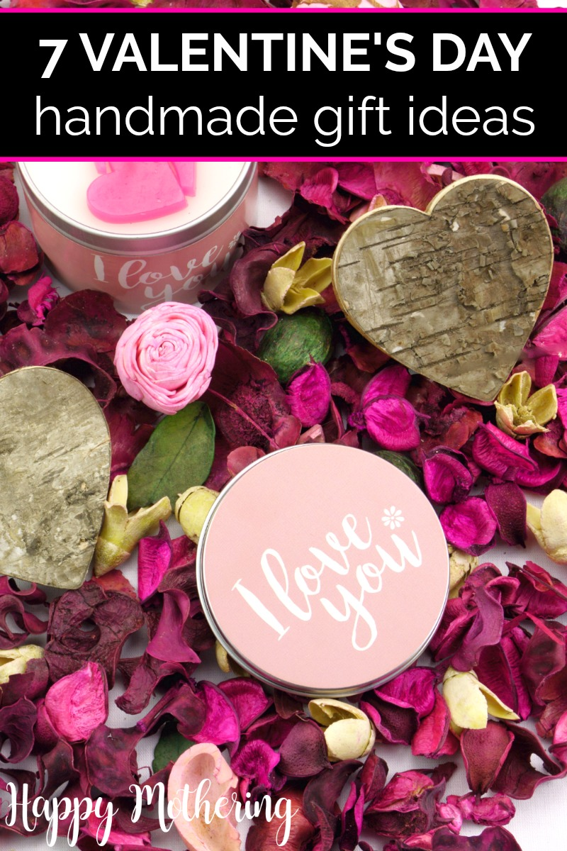 Candle lid reads I love your over dried flowers for handmade Valentine's Day gifts