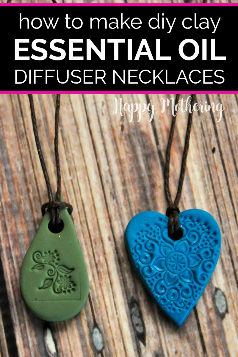 Blue and green DIY essential oil diffuser necklaces