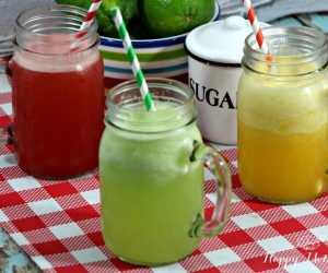 Agua Fresca watermelon orange cucumber