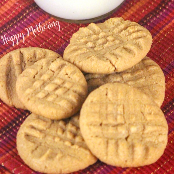 Delicious gluten free peanut butter cookies fresh out of the oven