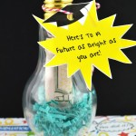 Cash filled Lightbulb graduation gift