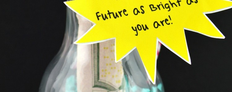 DIY Graduation Gifts: Brightest Future Light Bulb Cash Holder