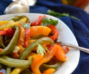 Garlic Roasted Bell Peppers Recipe