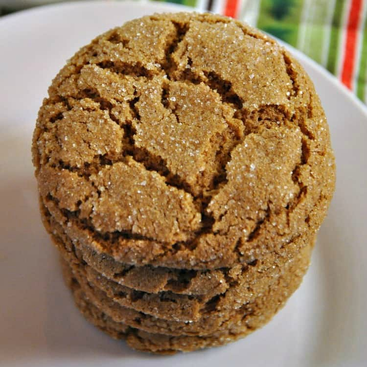 Plate of gluten free gingersnaps fresh out of the oven