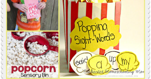 Popcorn sight words and other activities.