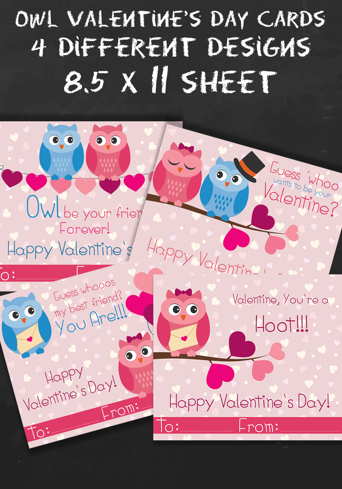 Free Owl Printable Valentines Day Cards Happy Mothering – Owl Valentines Day Cards