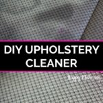 Before and after using our DIY upholstery cleaner on car seats