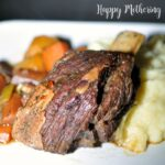 Braised buffalo short rib seasoned Jamaican jerk style