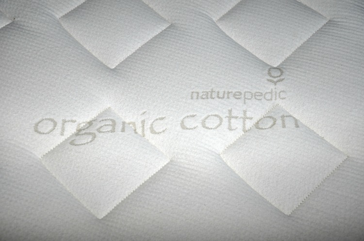 Naturepedic Organic Mattress Up close photo of the mattress