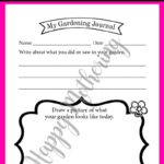 One Garden Journal printable for kids with the Happy Mothering watermark over it