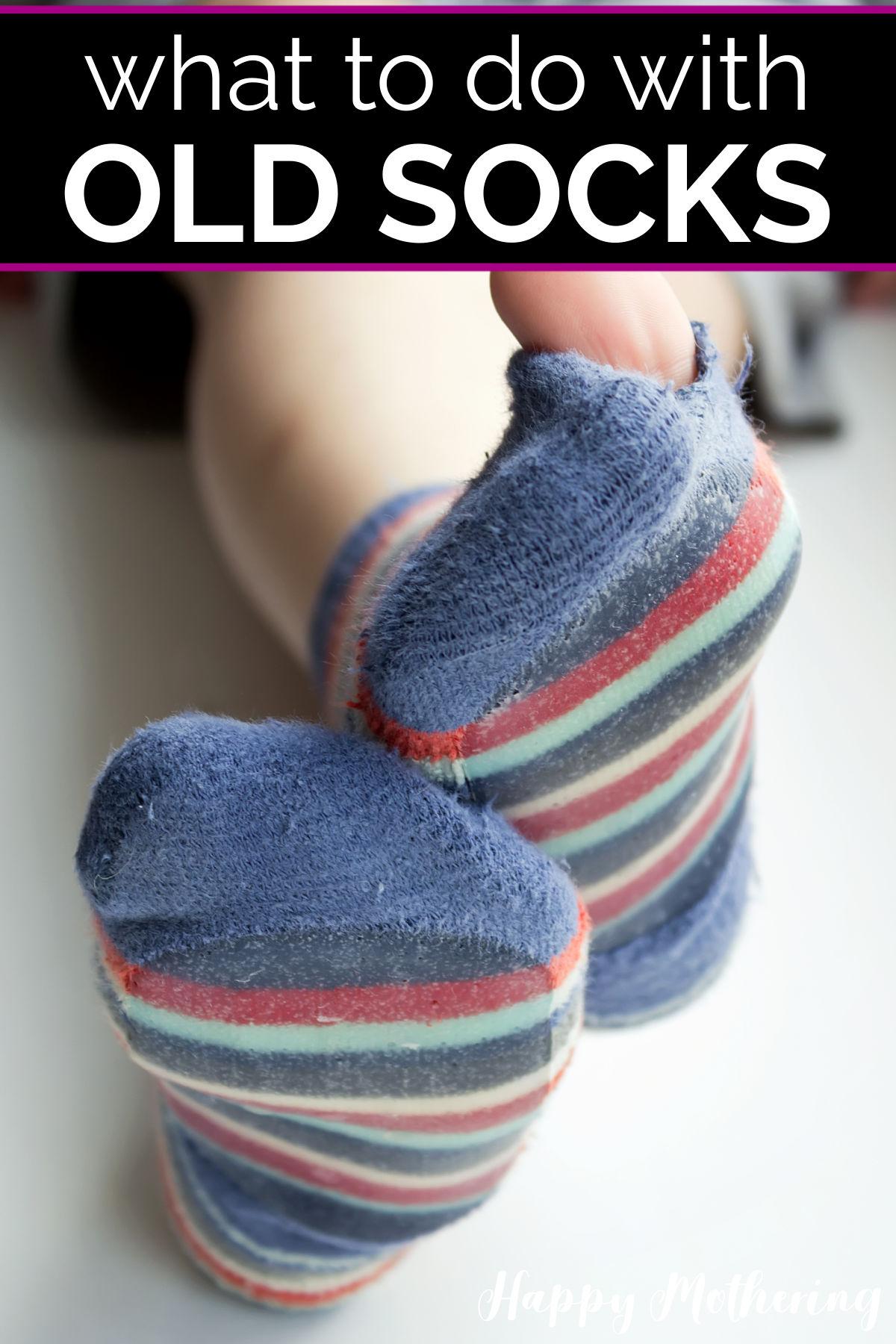 Feet with a holey sock