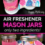 Four air freshener mason jars