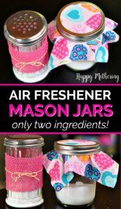 Four air freshener mason jars