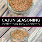 Two jars of cajun seasoning