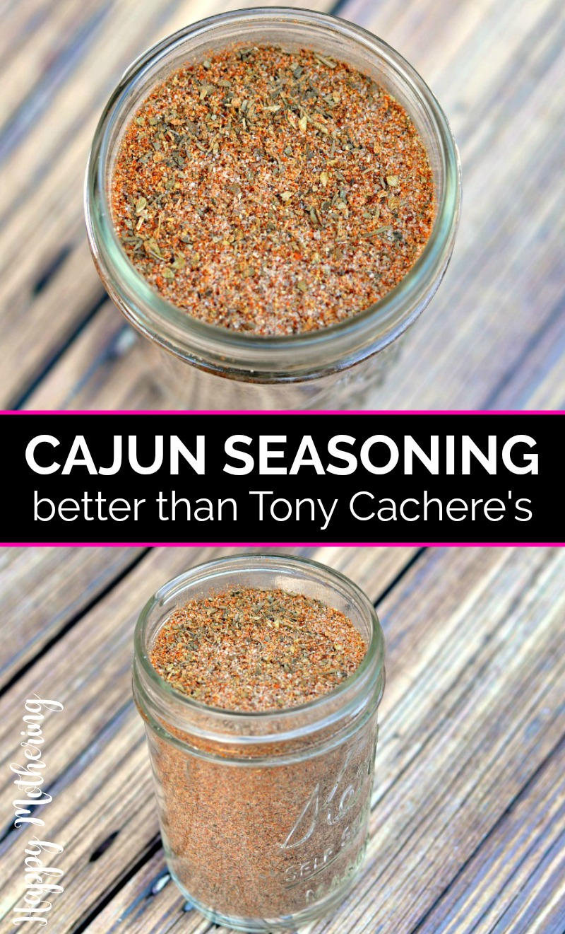 Two jars of cajun seasoning