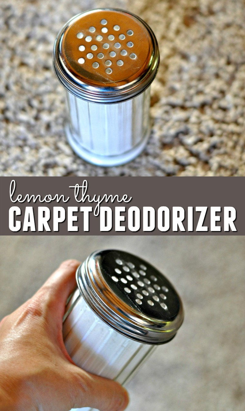 Is your upholstery and carpet in need of a freshening? This DIY Lemon Thyme Upholstery and Carpet Deodorizer has purifying effects to make your home smell fresh!