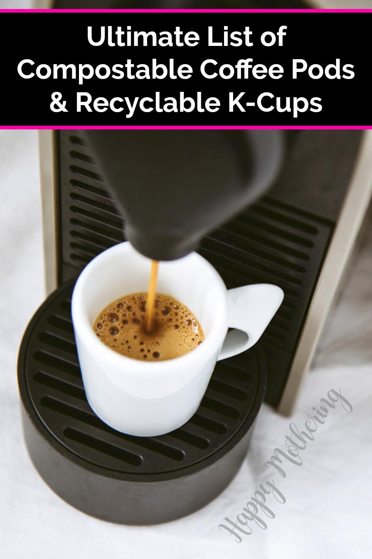 Single serve coffee maker and white coffee mug