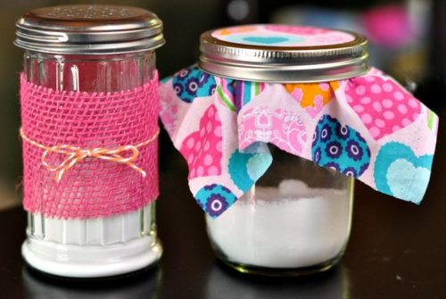 Two homemade air freshener jars