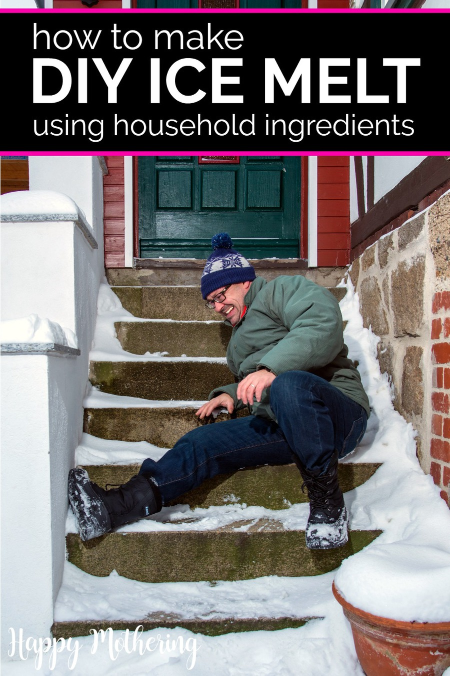 Winter means icy sidewalks and driveways that need to be cleared. Learn how to make your very own DIY ice melt using common household ingredients! This homemade formula is safe and non-toxic, so it's great for families!Winter means icy sidewalks and driveways that need to be cleared. Learn how to make your very own DIY ice melt using common household ingredients! This homemade formula is safe and non-toxic, so it's great for families!