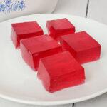 White bowl of jello jigglers cubes