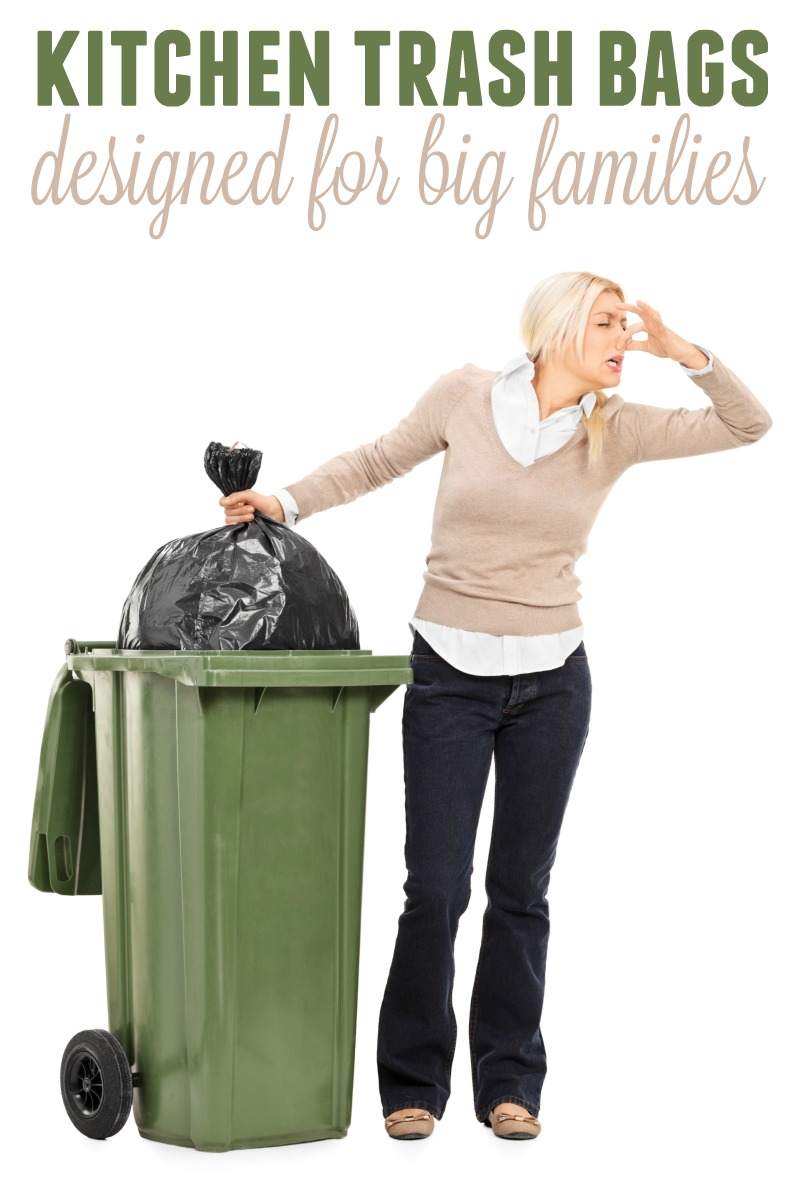 Do you have a large family? Are you looking for a durable trash bag with great odor control? Check out these kitchen trash bags designed for big families.