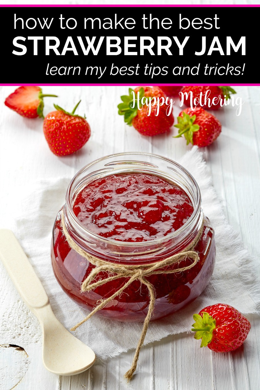 Are you looking for tips and tricks for making the best homemade strawberry jam? Learn how to make this easy small batch strawberry jam recipe without pectin and get my thoughts on uses and variations.