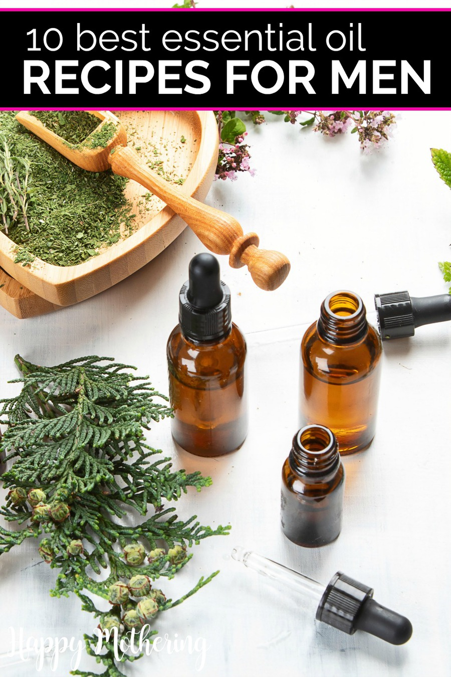 While women are posting all over social media about essential oils, there are plenty of ways for men to use them too. Learn how to make the 10 best essential oil recipes for men in one place!
