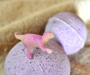 DIY Dino Discovery Bath Bombs Kids Will Dig