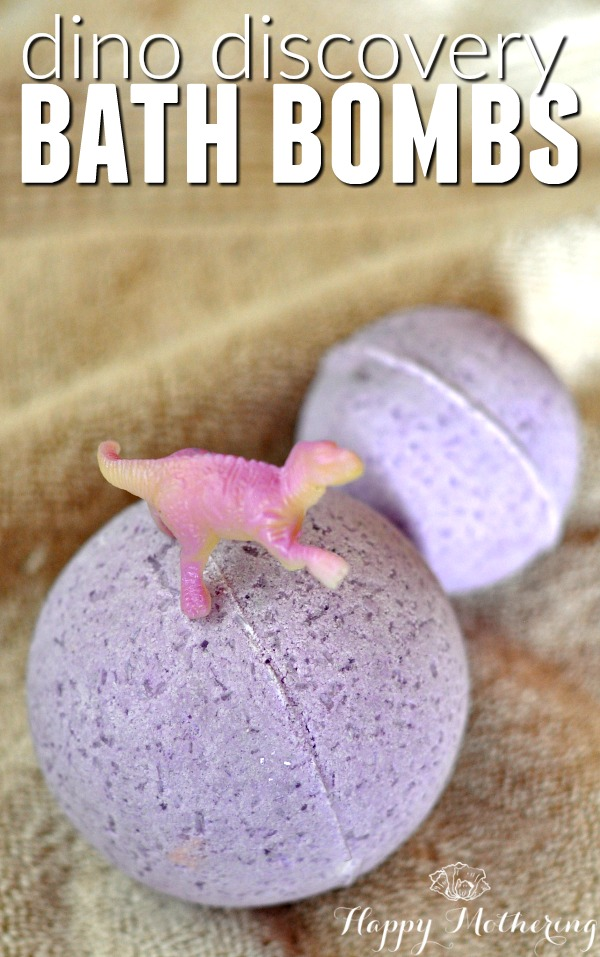 Does your child love dinosaurs? These DIY dino discovery bath bombs were inspired by Dino Dana. They're fun for moms to make and kids to bathe with!