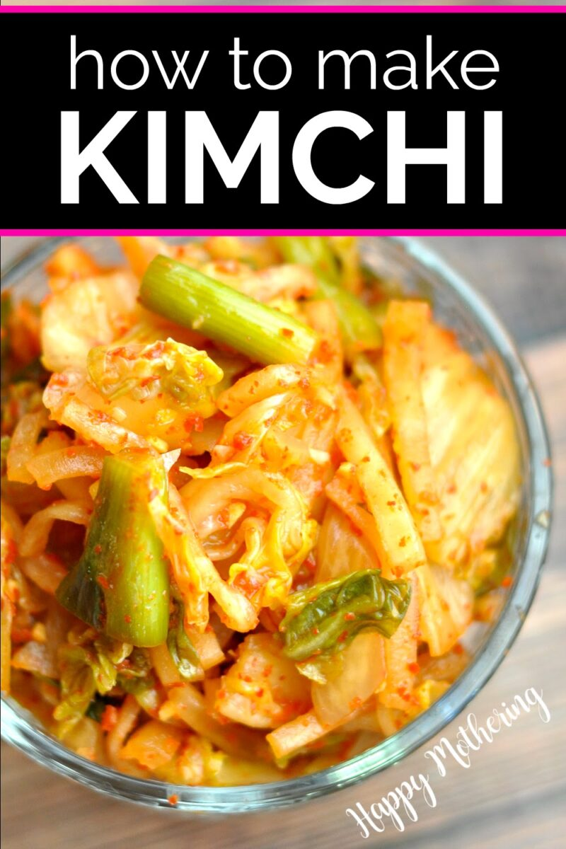 Homemade kimchi to serve as a condiment with Korean food