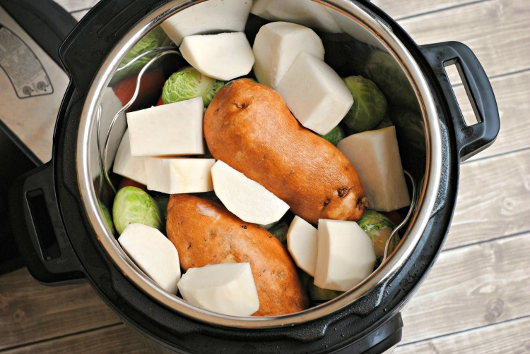 Raw vegetables in the Instant Pot