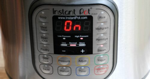 """Instant Pot front panel reading """"On"""""""