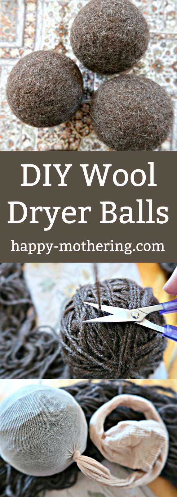 Want wool dryer balls for your natural laundry routine but they're too expensive? Follow this tutorial to learn how to make wool dryer balls that are easy on the budget.