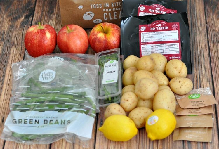 Autumn Applesauce Pork Ingredients from HelloFresh