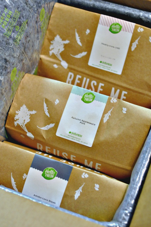 HelloFresh meals are well packaged in more environmentally friendly packaging