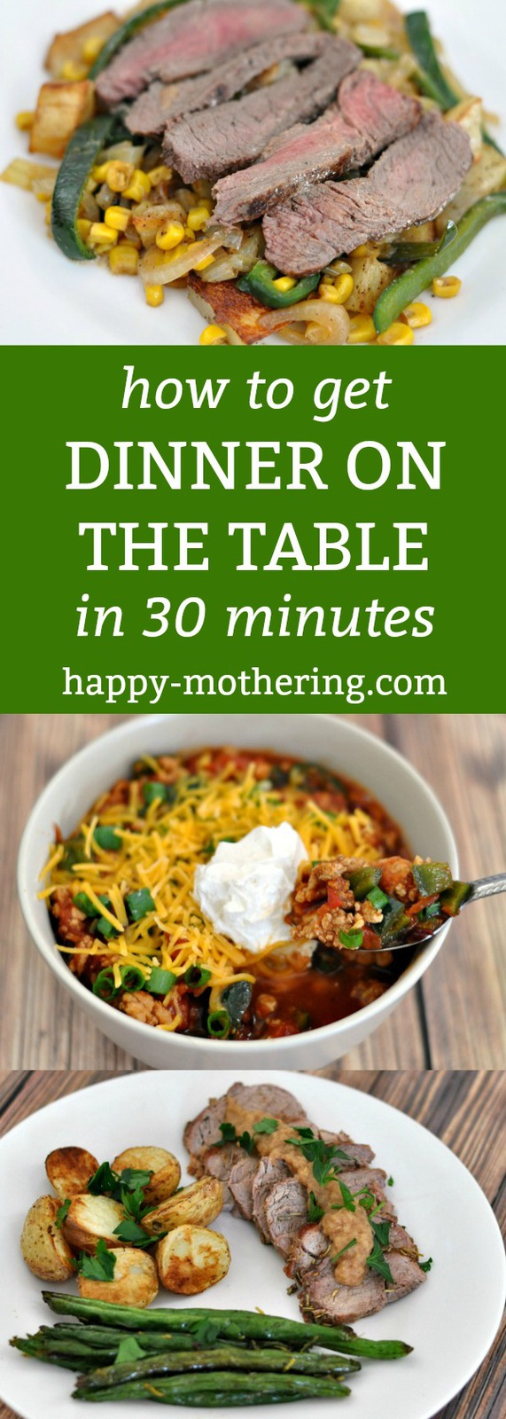 Is life's business keeping you from putting a homecooked meal on the table every night? Check out this simple way to get dinner on the table in 30 minutes.