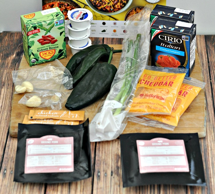 Hearty Pork Chili Ingredients from HelloFresh