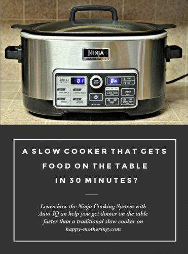 If you're low on time, but love serving your family delicious, home cooked meals, check out the Ninja Cooking System. It gets dinner on the table fast!