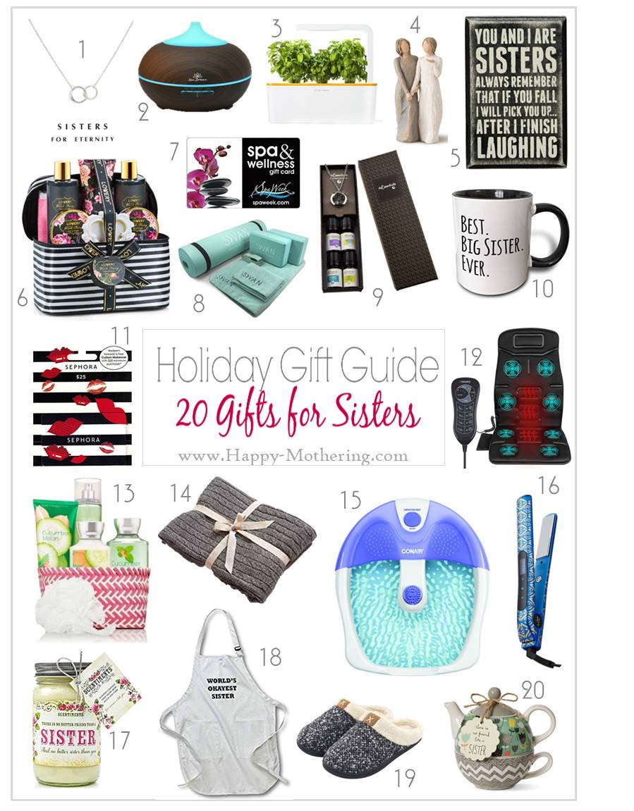 20 Christmas Gift Ideas for Sisters - Happy Mothering