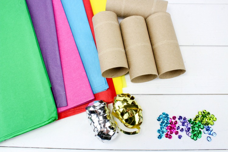 DIY Party Poppers Supplies