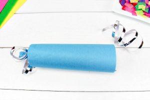 Tissue paper wrapped around toilet paper tube