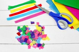 Cut up the tissue paper